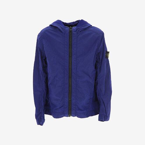 Stone Island Junior Nylon Metal Hooded Jacket - Blue