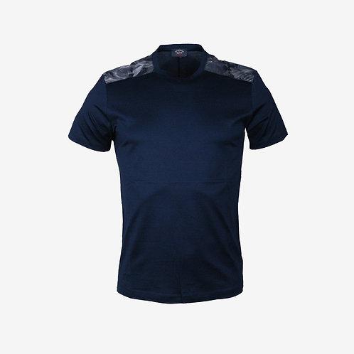 Paul & Shark Camo Shoulder T-Shirt Navy New