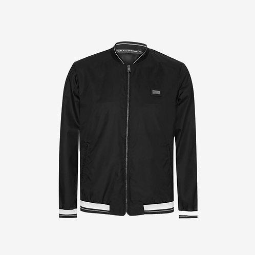 Dolce & Gabbana D&G Plaque Bomber Jacket Black Front