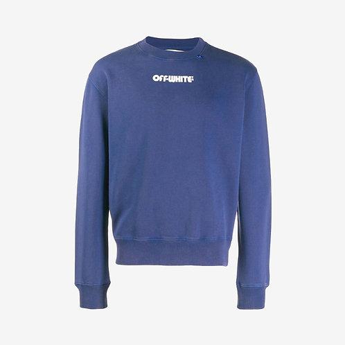 Off-White Skull Print Sweatshirt Blue