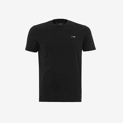 Armani Jeans T-shirt with White Logo Black Menswear
