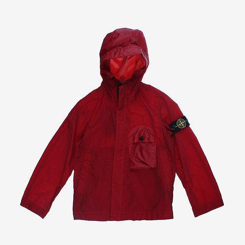 Stone Island Junior Lightweight Hooded Jacket - Red