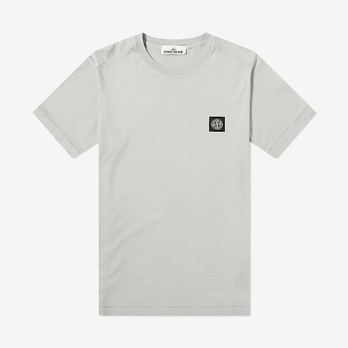 Stone Island Patch Logo T-Shirt - Grey