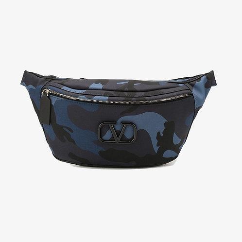 Valentino Camouflage VLogo Belt Bag - Blue