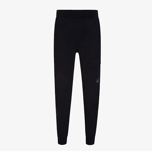 C.P. Company Diagonal Raised Fleece Lens Sweatpants - Black