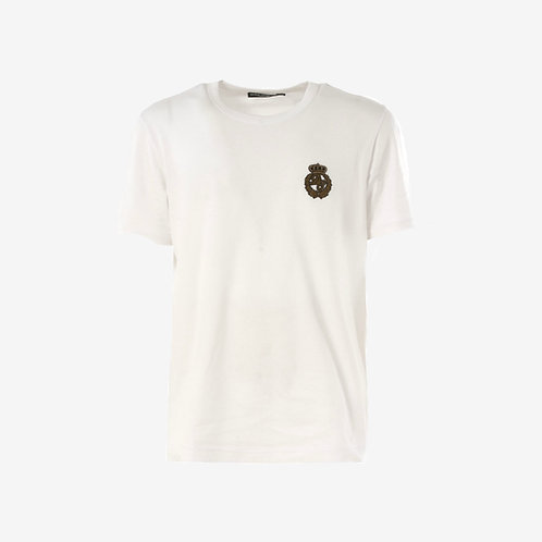 Dolce & Gabbana D&G Embroidered Crown T-Shirt - White