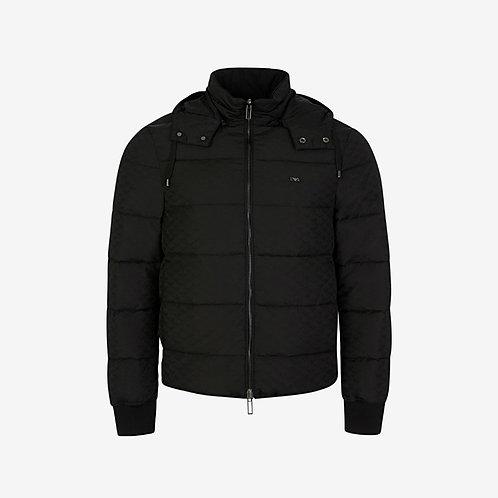 Emporio Armani Hologram Logo Reversible Down Jacket - Black
