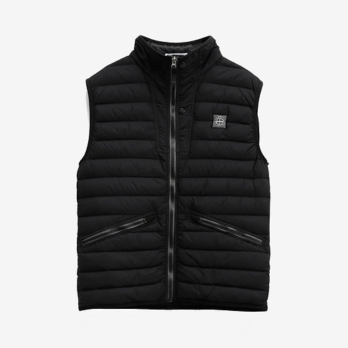 Stone Island Logo Embroidered Padded Gilet Black