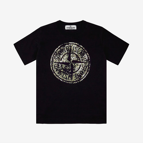 Stone Island Junior Compass T-Shirt - Black
