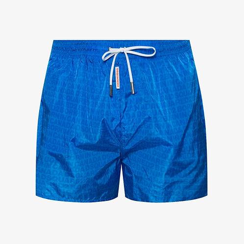 DSquared2 Logo Swim Shorts - Azure Blue