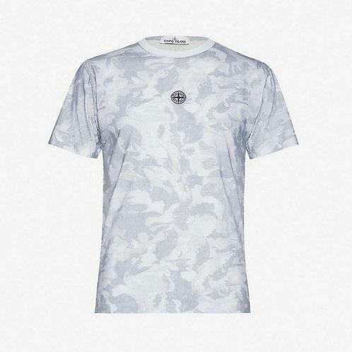 Stone Island Camo T-Shirt - Sky Blue