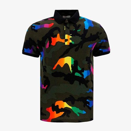 Valentino Camouflage Polo Shirt - Rainbow