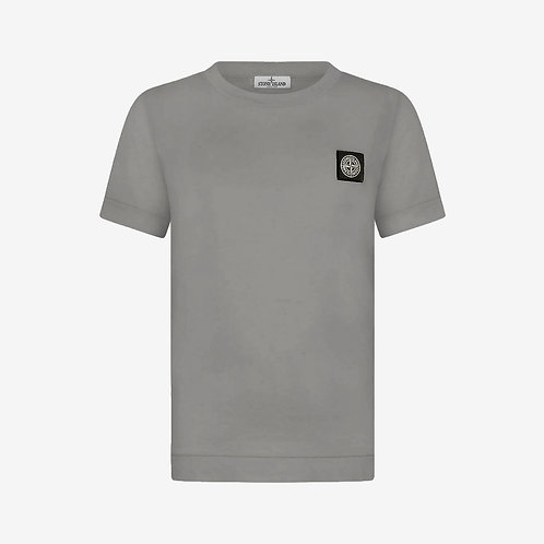 Stone Island Junior Logo Patch T-Shirt - Charcoal Grey