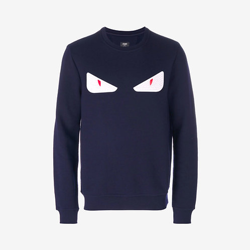 Fendi Bag Bugs Studded Eyes Sweatshirt Navy