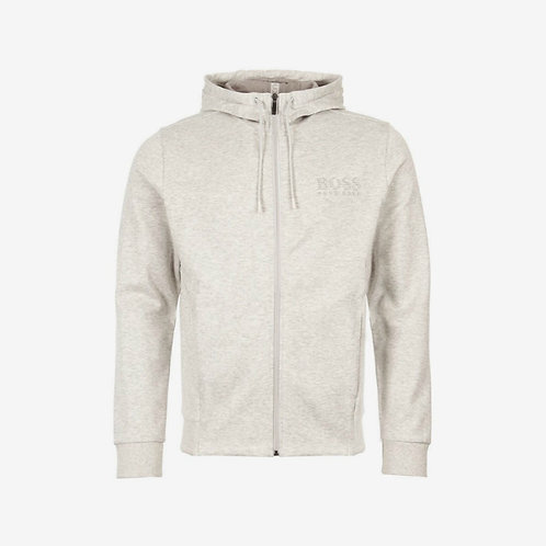Boss Green Zip Hoodie - Saggy - Grey and Reflective Silver