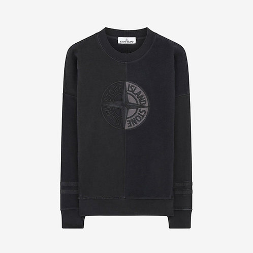 Stone Island 'Old' Dye Treatment Sweatshirt Black New