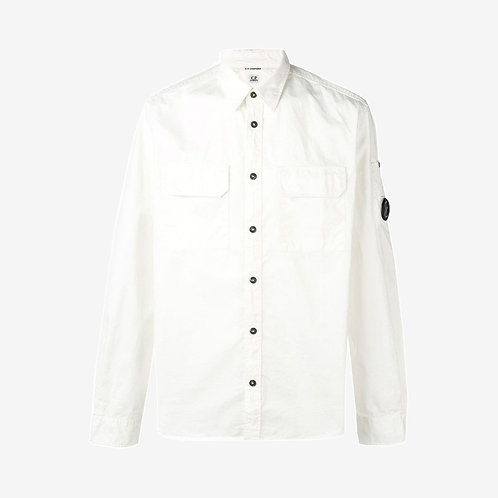 C.P. Company Gabardine Long Sleeve Shirt - Gauze White