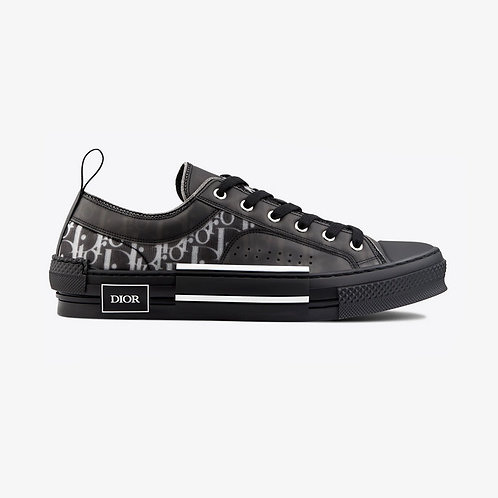 Dior B23 Low Top Sneakers - Black and White