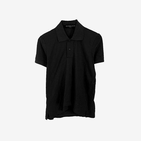Balenciaga Folded Polo Shirt Black Front