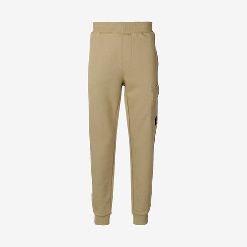 C.P. Company Diagonal Fleece Sweat Pants with Lens - Kelp Beige