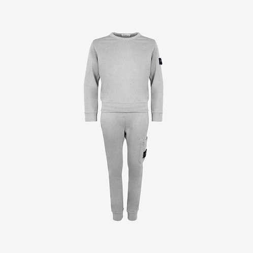 Stone Island Junior Tracksuit Grey Front