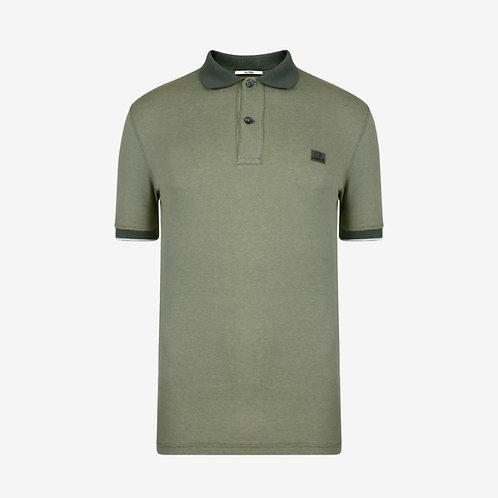 C.P. Company Kids Short Sleeve Polo Shirt - Green