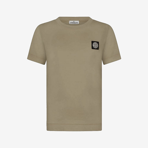 Stone Island Junior Logo Patch T-Shirt - Taupe Beige