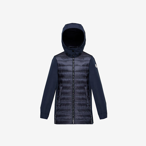 Moncler for Kids 'Cleofen' Down Jacket - Dark Navy