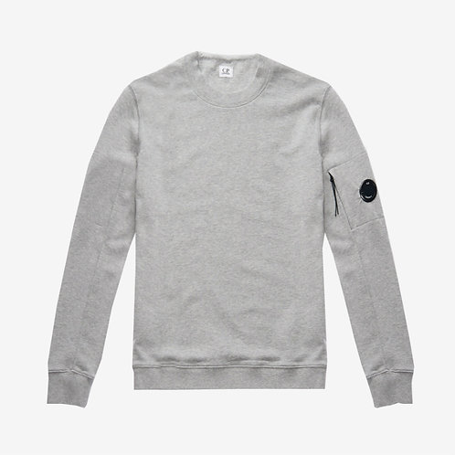 C.P. Company Diagonal Fleece Lens Sweatshirt - Grey Melange