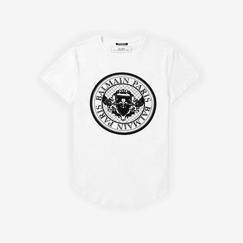 Balmain Paris Medallion T-Shirt - White
