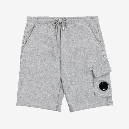 C.P. Company Kids Fleece Lens Sweat Shorts - Grey