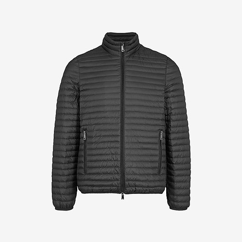 Emporio Armani Quilted Shell Down Jacket Black Zip