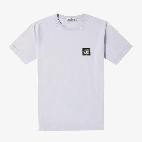 Stone Island Junior Logo Patch T-Shirt - Lavendar