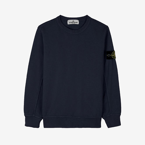 Stone Island Junior Crew Sweatshirt - Navy Blue
