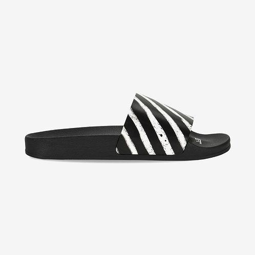 Off-White Spray Stripes Sliders Black and White