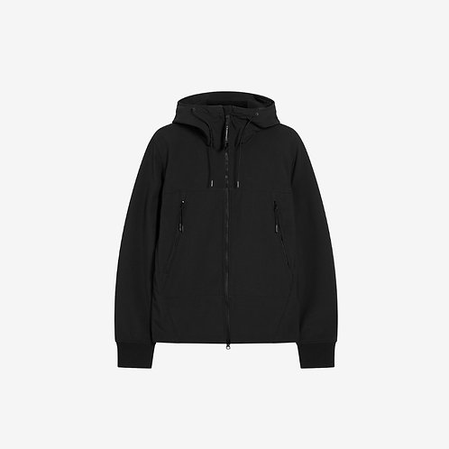 C.P. Company Soft Shell Goggle Zip Jacket - Black Coffee
