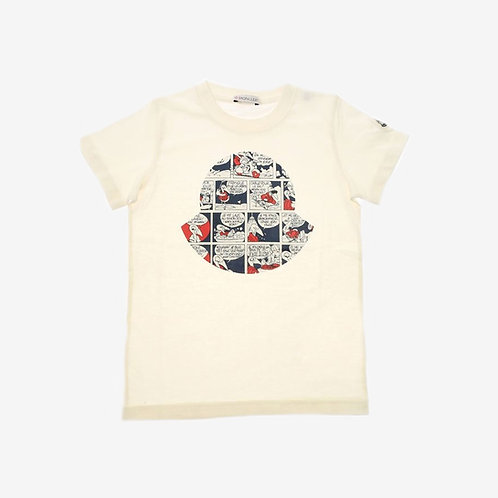 Moncler for Kids 'Maglia' Print T-Shirt - Beige