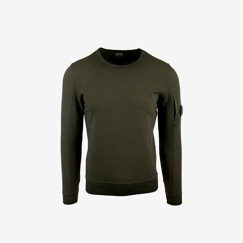 C.P. Company Autumn Winter 18 Light Fleece Lens Sweatshirt - Khaki Green