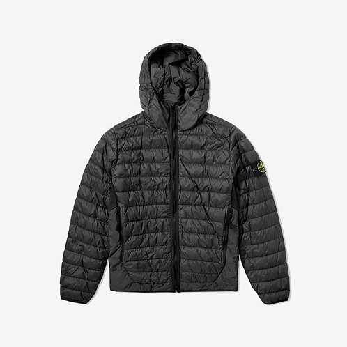 Stone Island - Garment Dyed Micro Yarn Down Jacket - Black