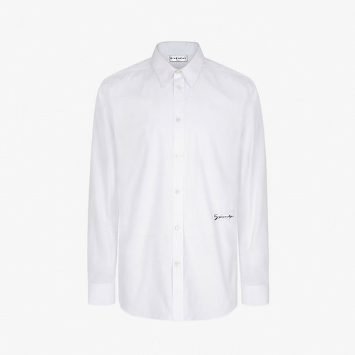 Givenchy Embroidered Logo Shirt - White