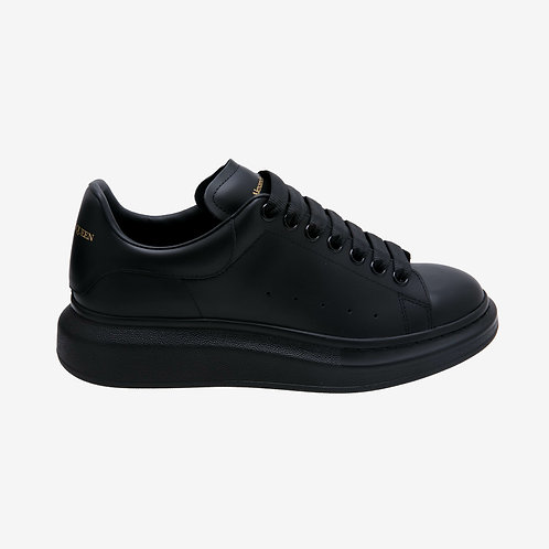 Alexander McQueen Oversized Leather Sneaker - All Black and Gold