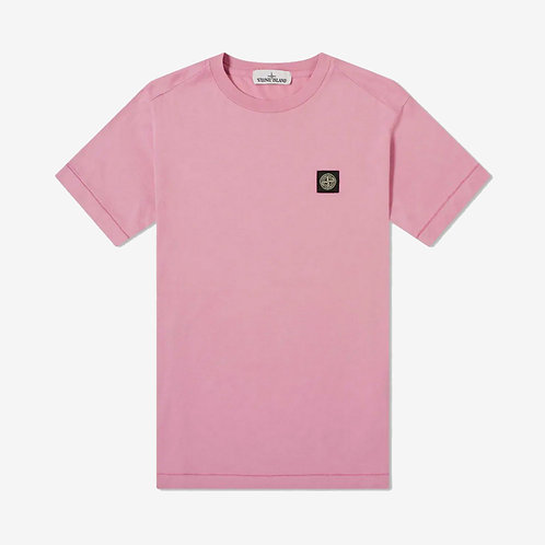 Stone Island Patch Logo T-Shirt - Rose Quartz/Pink