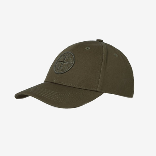 Stone Island Canvas Logo Cap Military Green Deisgner Menswear