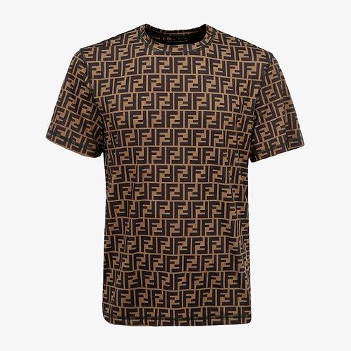 Fendi FF Zucca Print T-shirt - Black and Brown