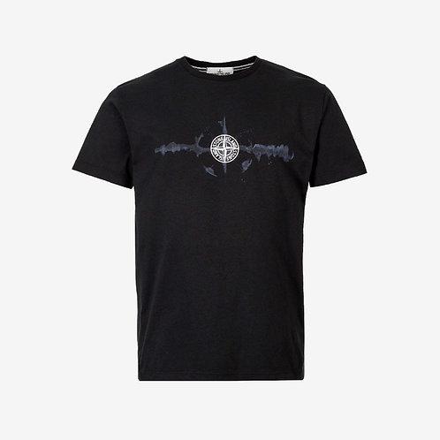 Stone Island 'Graphic Six' Print T-Shirt - Black