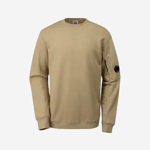 C.P. Company Diagonal Fleece Lens Sweatshirt - Kelp Beige