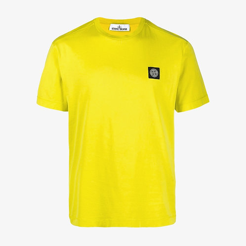 Stone Island Patch Logo T-Shirt - Yellow