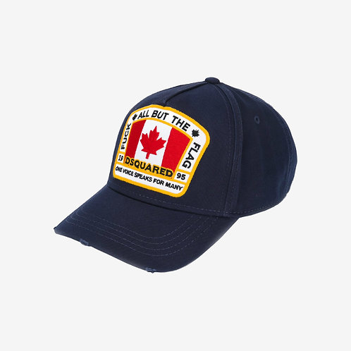 Dsquared2 Canadian Flag Patch Cap - Navy