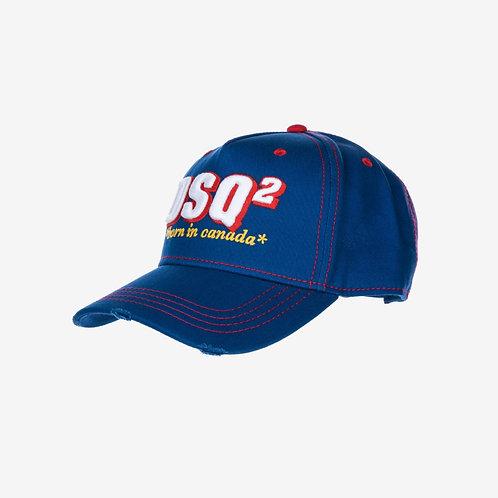 Dsquared2 'Born in Canada' Embroidered Logo Baseball Cap Blue DSQ2