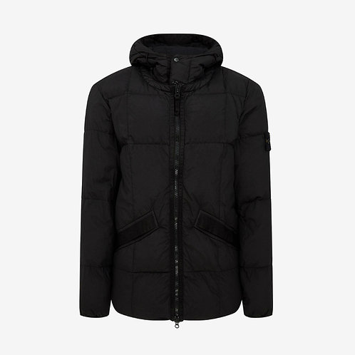Stone Island Garment Dyed Crinkle Reps NY Hooded Down Jacket - Black
